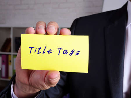 Financial concept about Title Tags G with inscription on the sheet.