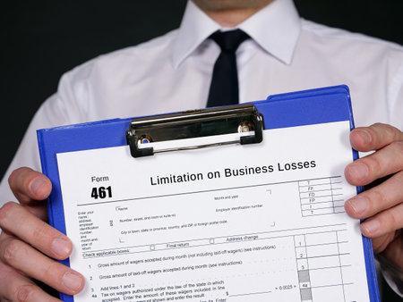 Form 461 Limitation on Business Losses Foto de archivo