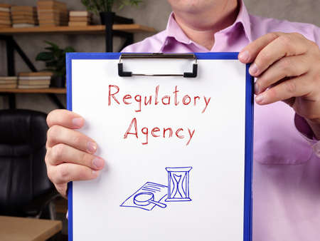 Juridical concept meaning Regulatory Agency with phrase on the page.
