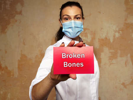 Healthcare concept about Broken Bones with sign on the page. Archivio Fotografico