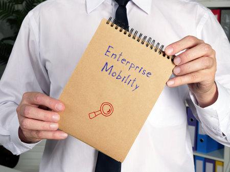 Enterprise Mobility l inscription on the piece of paper.