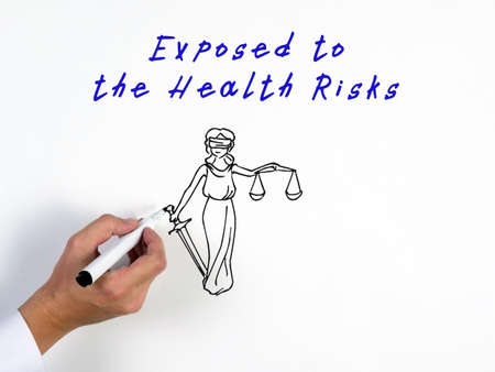 Business concept about Exposed to the Health Risks with inscription on the piece of paper.