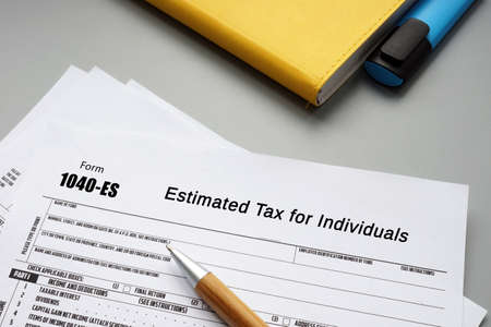 Form 1040-ES Estimated Tax for Individuals sign on the page.