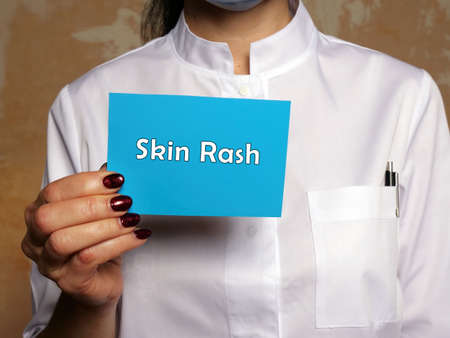 Medical concept about Skin Rash with phrase on the page. Stock Photo