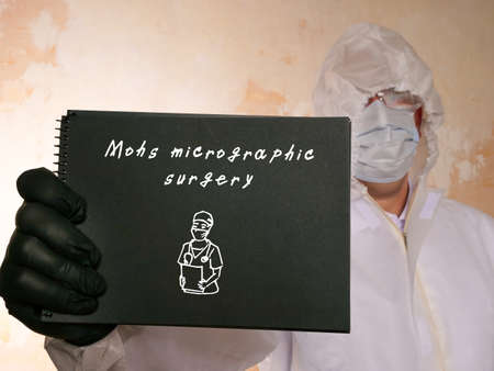 Medical concept about Mohs micrographic surgery with sign on the page.