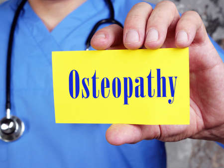 Osteopathy sign on the sheet.