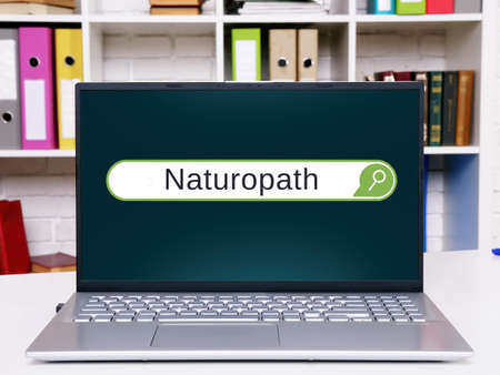Business concept meaning Naturopath with inscription on the sheet.