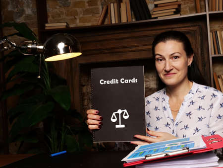 Credit Cards sign on the piece of paper.