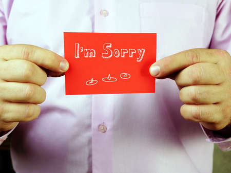 Juridical concept about I'm Sorry with sign on the sheet.