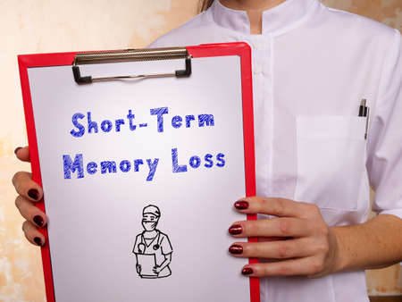 Medical concept meaning Short-Term Memory Loss with inscription on the page. Archivio Fotografico
