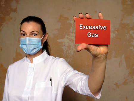 Healthcare concept about Excessive Gas with sign on the piece of paper.