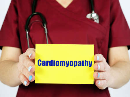 Cardiomyopathy phrase on the page.
