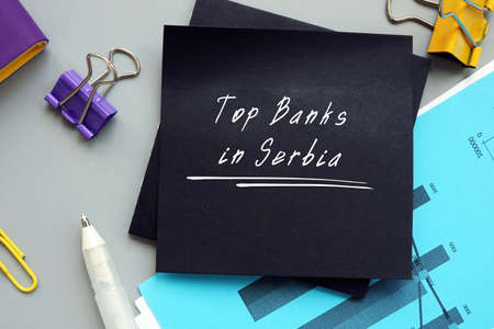 Top Banks in Serbia phrase on the sheet.