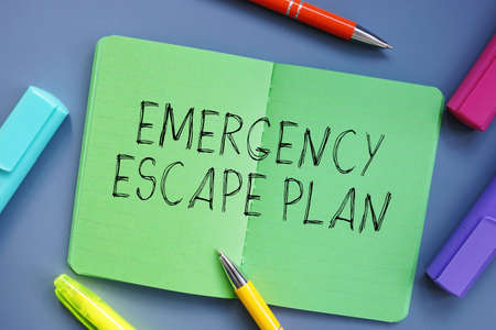 Business concept meaning Emergency Escape Plan with inscription on the sheet.