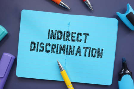 Business concept about Indirect Discrimination with inscription on the piece of paper. Archivio Fotografico