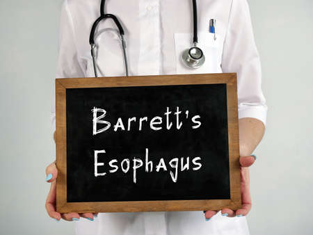 Medical concept about Barrett's Esophagus with inscription on the page.