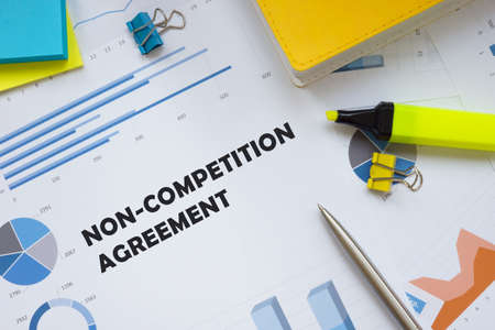 Conceptual photo about Non-Competition Agreement with handwritten text. Reklamní fotografie
