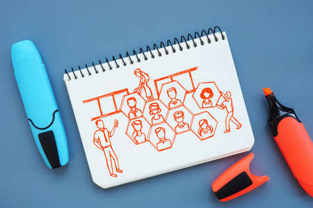 Business concept meaning Contingent Workforce Management R with hand-drawn drawing on the piece of paper.