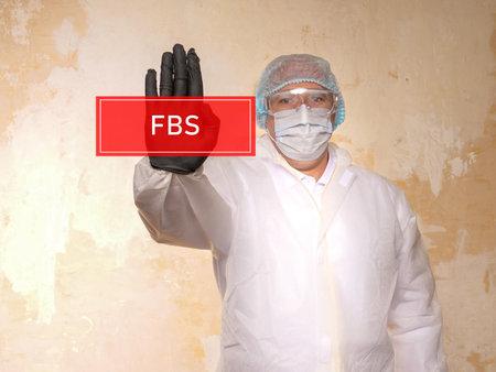 FBS Fetal blood sampling inscription on the piece of paper.