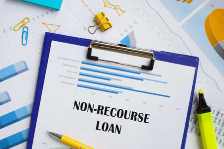 Financial concept about Non-Recourse Loan with sign on the page.