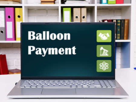 Conceptual photo about Balloon Payment with written phrase. Stockfoto