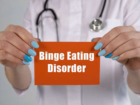 Medical concept about Binge Eating Disorder with sign on the sheet. Stockfoto