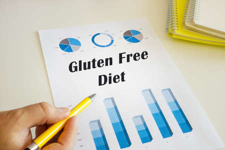 Financial concept meaning Gluten Free Diet with inscription on the financial document. Stockfoto