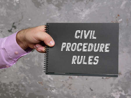 Business concept meaning CIVIL PROCEDURE RULES with inscription on the piece of paper. Stockfoto