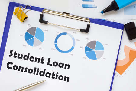 Business concept about Student Loan Consolidation with inscription on the page.