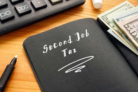 Second Job Tax inscription on the sheet.