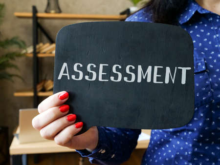 Financial concept about ASSESSMENT with phrase on the page.