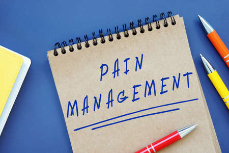 Business concept meaning Pain Management with phrase on the sheet. Stockfoto