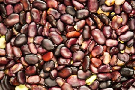 a heap of dried string bean on a table photo
