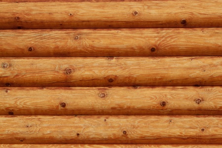 Wooden background - part of log cabin Stock Photo - 10224693