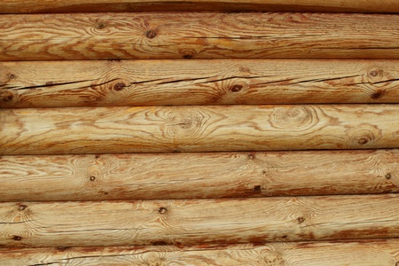Wall of logs background