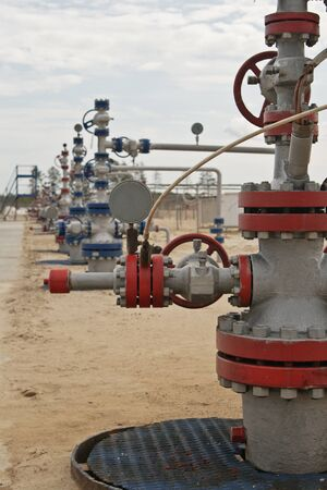 Wellhead in the oil and gas industry photo