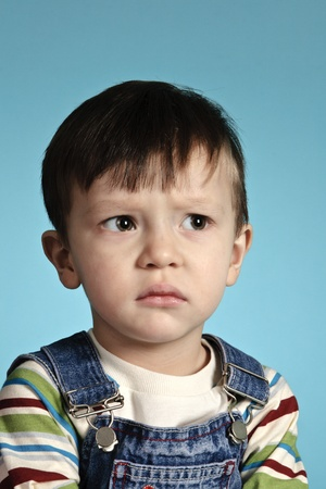 The small child with the offended kind Stock Photo - 10470170