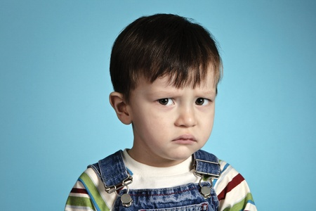 The small child with the offended kind Stock Photo - 10470168