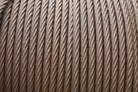 Technological background from steel rope photo