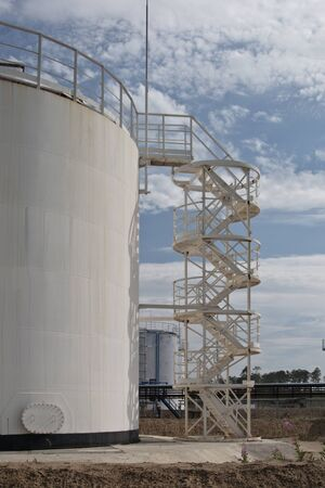 Fragment chemical storage tanks Stock Photo - 10574379