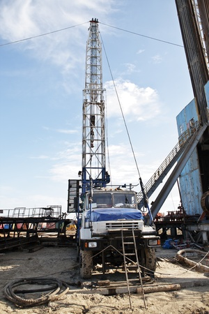 The equipment for well completion for oil recovery and gas Stock Photo - 10591649