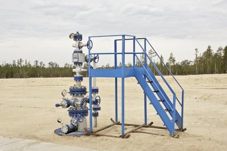 recursos naturales: Pozo en la industria de petróleo y gas