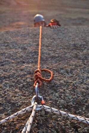 bonding rope: Equipment for mountaineering and rock-climbing in mountains