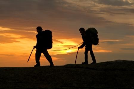 mountaineer: Any mountaineer walking in mountain
