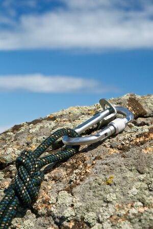 carabiner: Sports equipment for mountaineering and rock-climbing
