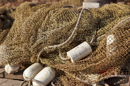 Drifter piled after fishing Stock Photo - 13616939