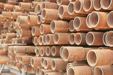 Much of drill pipes as excellent for background photo