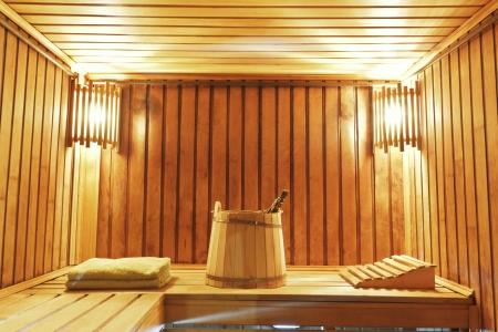Still life of steam bath room accessories Standard-Bild