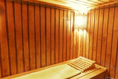 Interior of modern russian sauna cabin - place for massage Stock Photo - 15412108