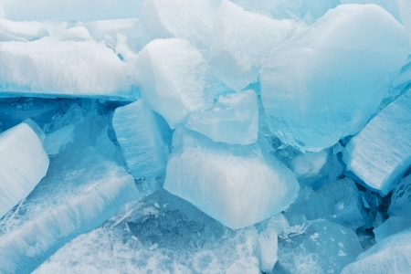 Big blocks of blue ice for fine background